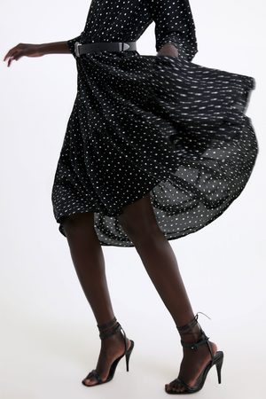 Zara Mujer Casuales - Vestido lunares cinturón