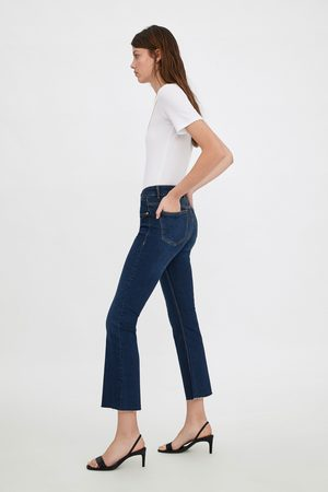 Zara Mujer Acampanados - Jeans mid rise cropped flare