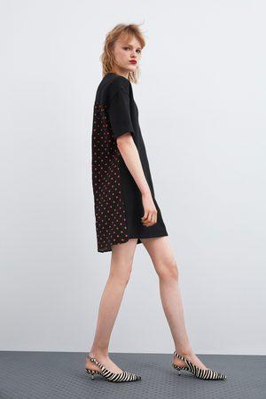 Zara Vestido combinado lunares