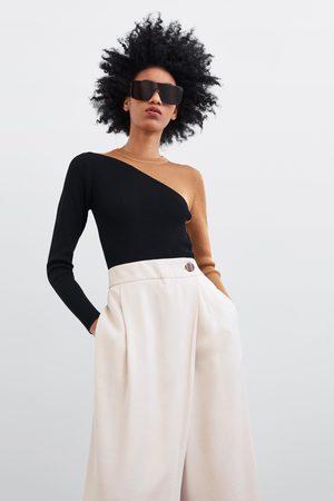 Zara Mujer Anchos y de harem - Pantalón culotte cruzado