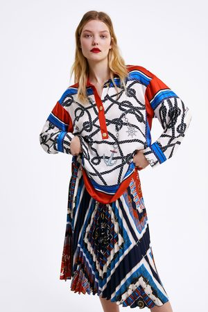 Zara Blusa estampada