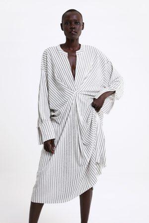 Zara Vestido estampado rayas