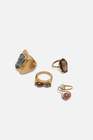 Zara Pack anillos piedras edición limitada