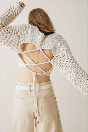 Zara Studio jersey cropped estructura edición limitada