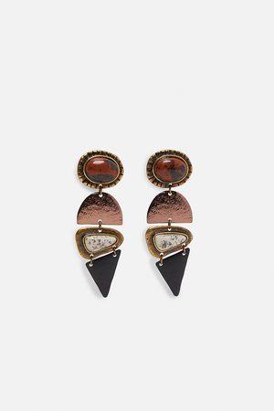 Zara Pendientes combinados piedras edición limitada