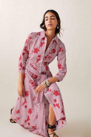 Zara Túnica rayas bordada