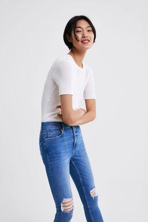Zara Jeans z1975 skinny rotos