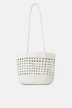 Zara Bolso shopper trenzado