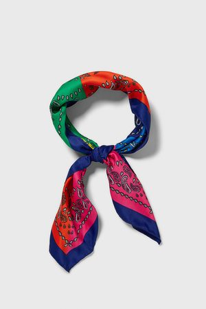 Zara Bandana paisley color block