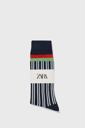 Zara Calcetín rayas verticales
