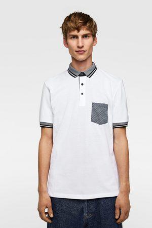 Zara Hombre Polos - Polo combinado bolsillo