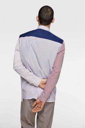 Zara Camisa patchwork rayas