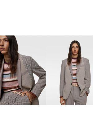 Zara Blazer conjunto patchwork