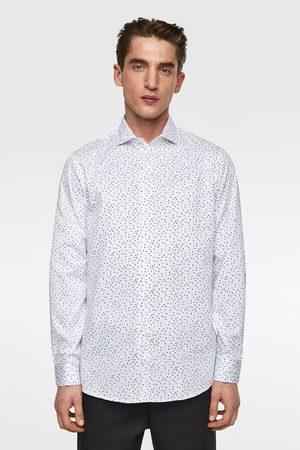 Zara Hombre Camisas - Camisa satinada estampado floral