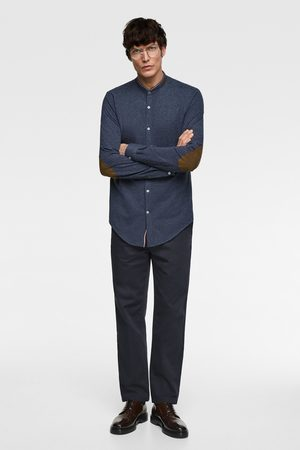 Zara Hombre Camisas - Camisa piqué coderas
