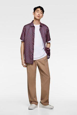 Zara Camisa estampado logo