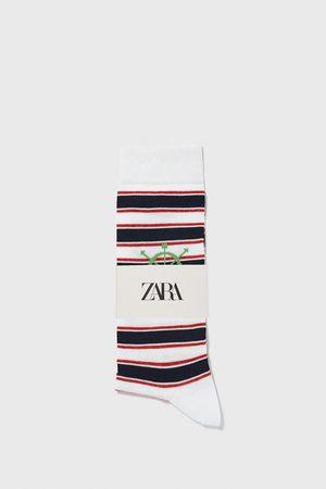 Zara Hombre Calcetines - Calcetín rayas náutico
