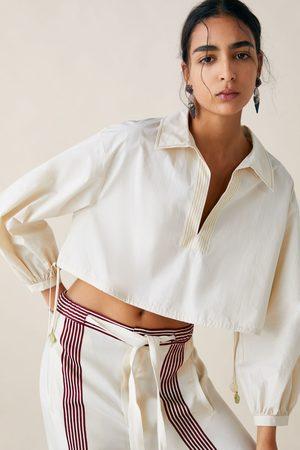 Zara Studio blusa cropped edición limitada