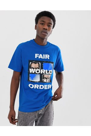 FAIRPLAY Fwo t-shirt with chest print in blue