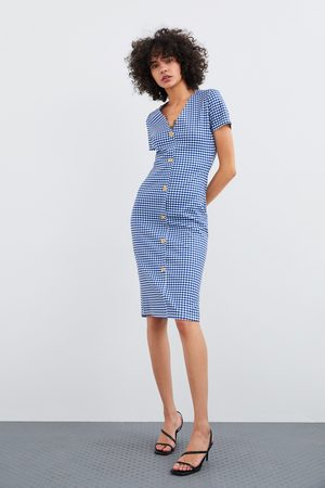 Zara Vestido botones