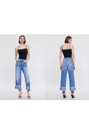 Zara Jeans z1975 wide leg rotos