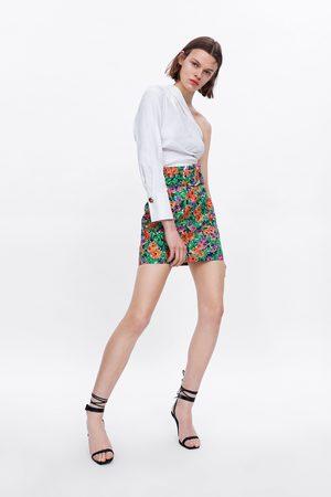 Zara Mujer Camisas - Cuerpo asimétrico pliegues