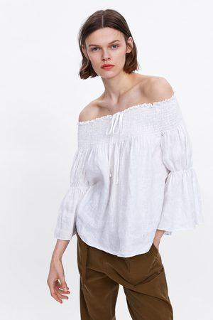 Zara Cuerpo lino elásticos