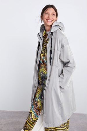 Zara Mujer Parkas - Parka larga oversize capucha