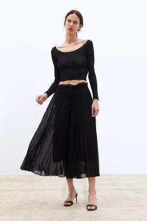 Zara Culotte plisado