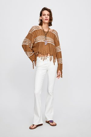 Zara Jeans zw premium skinny flare white