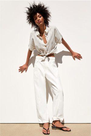 Zara Camisa cropped rústica