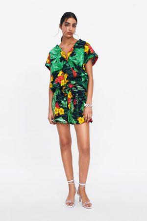 Zara Bermuda estampado floral