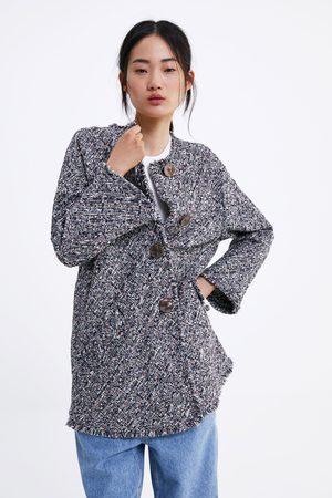 Zara Abrigo tweed botones