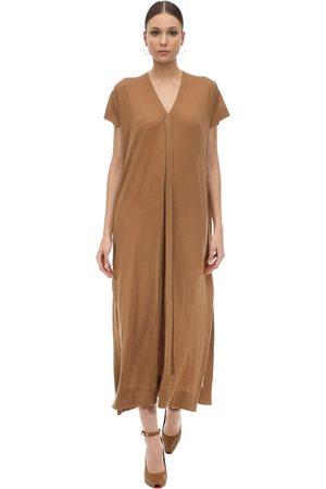 Agnona Mujer Maxi - Vestido Largo De Punto De Cashmere