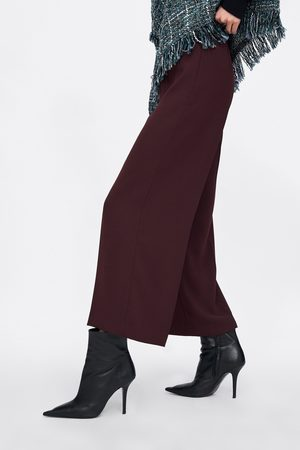 Zara Mujer Pantalones y Leggings - Pantalón tiro alto