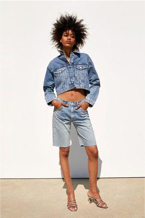 Zara Mujer Shorts - Bermuda hi rise rotos
