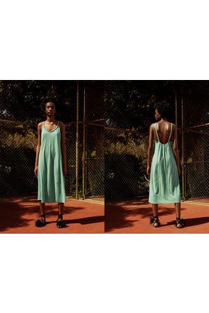 Zara Vestido tirantes trenza