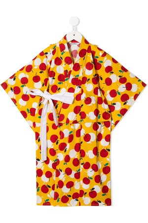 Familiar Suéteres abiertos - Conjunto de kimono con estampado de cerezas