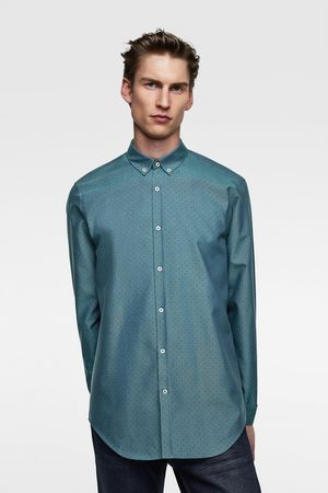 Zara Camisa oxford estampado lunares
