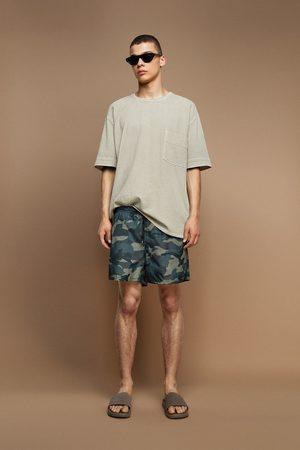 Zara Hombre Trajes de baño - Bañador estampado camuflaje