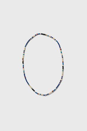 Zara Collar bolas azul
