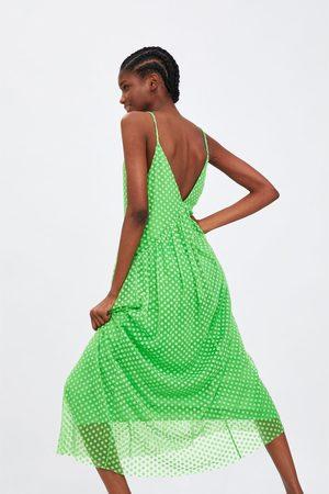 Zara Vestido tull plumeti