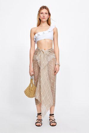 Zara Sujetador bikini asimétrico