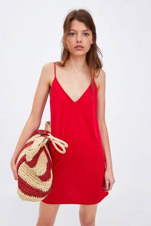 Zara Mujer Vestidos - Vestido lencero satinado