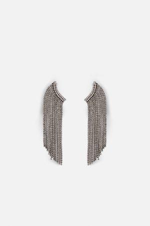 Zara Pendientes earcuff brillo