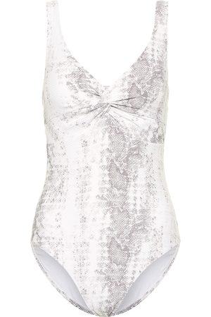 Heidi Klein Core snake-effect swimsuit