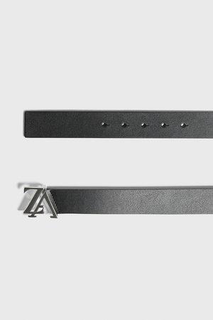 Zara Cinturón piel hebilla logo