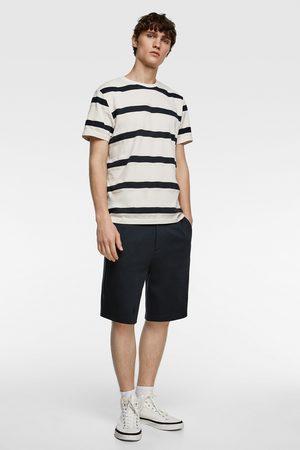 Zara Camiseta premium rayas