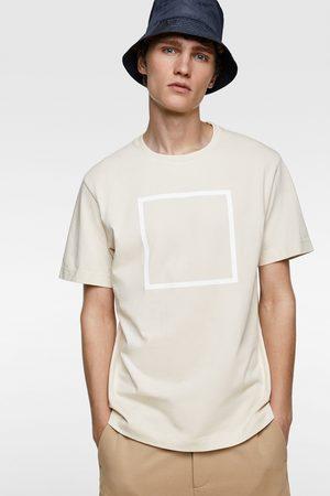 Zara Camiseta premium cuadrado