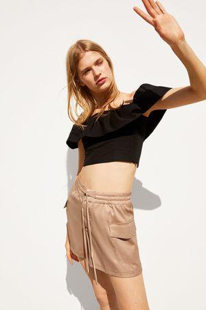 Zara Mujer Shorts - Bermuda satinada